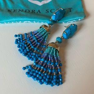 Kendra Scott Dove Statement Earrings in Turquoise